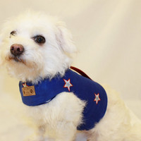 RockinDogs Red White and Blue Stars Patriotic Dog Harness for 4th of July