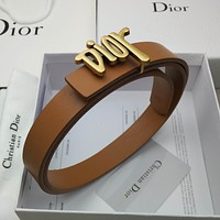 Dior fashion trend letter gold buckle men's and women's trouser belt