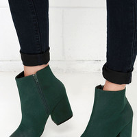 Penny Loves Kenny Total Green Pointed Booties