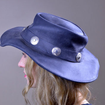 Vintage Leather with Silver Concho Guns N Roses Hat