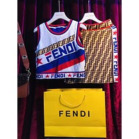 FENDI Knit Vest Top Mini Skirt Two-Piece