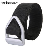 ReFire Gear US Army Tactical Belts Men SWAT Combat Heavy Duty Military Waist Belt Casual Triangle Metal Buckle 800D Nylon Belts