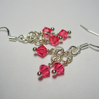 Simply Swarovski Earrings (coral pink)