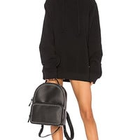 DANIELLE GUIZIO DG Oversized Hoodie Dress in Black | REVOLVE
