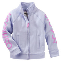 Active French Terry Funnel-Neck Zip Up