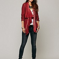 Free People  Zip Ruffle Jacket at Free People Clothing Boutique