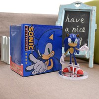 7'' Sonic The Hedgehog Super Sonic Figure Toys Doll Nendoroid Sonic Figures Shadow Anime Figurines Toys For Children Werehog