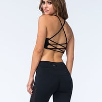 Full Tilt Sport Multi Strap Sports Bra Black  In Sizes