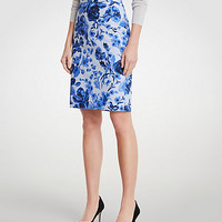 Curvy Floral Toile Pencil Skirt | Ann Taylor
