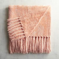 Blush Chenille Throw
