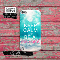 Keep Calm And Be A Mermaid Cute Ocean Tumblr Custom iPod Touch 4th Generation or iPod Touch 5th Generation Rubber or Plastic Case