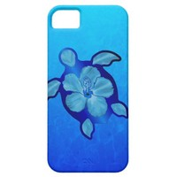 Blue Honu Turtle and Hibiscus iPhone 5 Cases from Zazzle.com