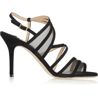Jimmy Choo - Vora suede and mesh sandals
