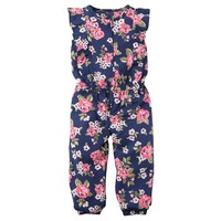 Carter's Floral Poplin Jumpsuit - Girls