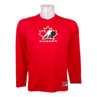 Team Canada IIHF Division Legend Dri-FIT Long Sleeve T-Shirt (Red)