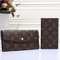 LV Louis Vuitton New Women Fashion Monogram Print Leather Wallet Purse