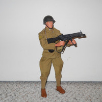 G.I. Joe 12 Inch Classic Doll and motorcycle