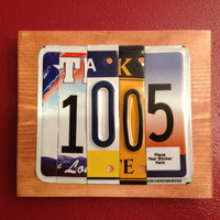 HOUSE ADDRESS NUMBER Custom Recycled License Plate Sign