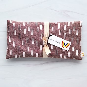 Lines in Rust Linen Oversized Eye Pillow - Limited Edition