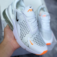 KUYOU N448 Nike Air Max 270 2018 Summer Mesh Breathable Running Shoes Grey White Orange