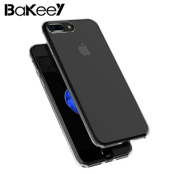 For iPhone 7 Plus Cases Ultra Thin  Soft TPU Transparent  Back 5.5 Inch