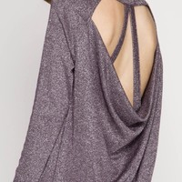 Metallic Strappy Back Top
