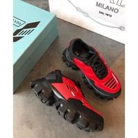 Prada Cloudbust Thunder Red/ Black Sneakers - Best Online Sale