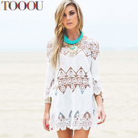 Sexy Tribal Lacey One Piece Cover Up
