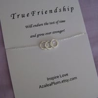Best FRIEND Necklace. Friendship Jewelry. 30th Birthday Gift 3 BEST FRIENDS Necklace. Eternity Circle Necklace. Inspirational Necklace