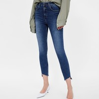 Z1975 HIGH-WAISTED JEANS WITH BUTTON FASTENINGDETAILS