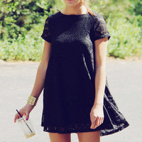 The Santa Clara Lace Dress in Black