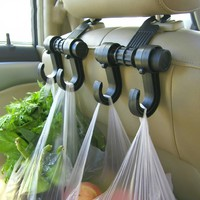 Double Automobile Hanger Daily Grocery Shopping Hook Holder Car Back Seat Fastener Auto Supplies Interior Accessories Hook Clip#