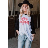Yes, Girl! Home Run Tee - Black