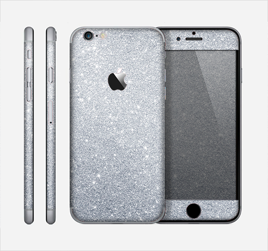 Image of The Silver Sparkly Glitter Ultra Metallic Skin for the Apple iPhone 6