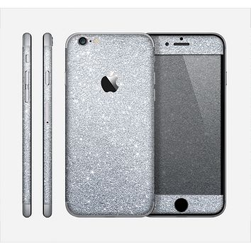 The Silver Sparkly Glitter Ultra Metallic Skin for the Apple iPhone 6