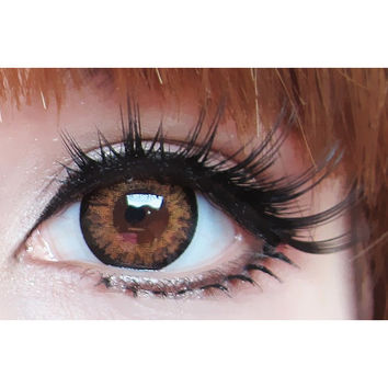 GEO Starmish Brown Circle Lenses Colored Contacts Cosmetic Color Circle Lens