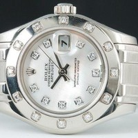 ROLEX - White Gold Ladies DIAMOND PearlMaster - 80319 SANT BLANC