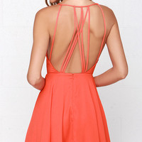 Strappy Together Orange Dress