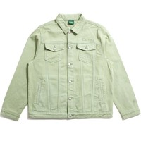 Wordmark Denim Jacket Sage Green