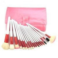 18-pcs Pink Tools Make-up Brush Set [8825198215]