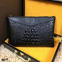 VERSACE MEN'S NEW TOP LEATHER HAND BAG