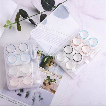 4Pairs Contact Lens Case Candy Colored Many Styles Eye Contact Lens Box Travel Contact Lenses Case Women