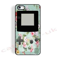 case,cover fits iPhone,iPod models>gameboy,toy,mint,floral,vintage,flowers,retro