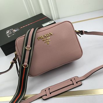 prada newest popular women leather handbag tote crossbody shoulder bag satchel 52