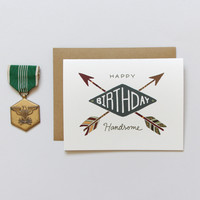 Handsome Arrows Birthday Card