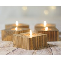 Candle Holders, 5 Reclaimed Wood