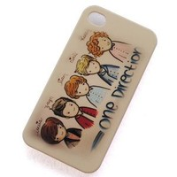 Huaqiang3c British-irish Boy Band One Direction 1d Cartoon Pattern Plastic Hard Rubber Protective Case Cover for Apple Iphone 4 4g 4s