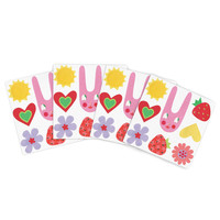 """Jane Smith """"Summer Repeat"""" White Red Indoor/Outdoor Place Mat (Set of 4)"""