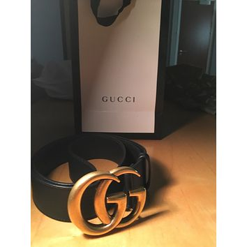 GUCCI DOUBLE G BELT MENS 90 30 WAIST