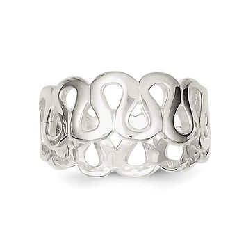 Sterling Silver Solid Fancy Ring